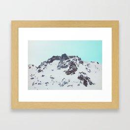Canadian mountain scene #society6 #decor #buyart Framed Art Print