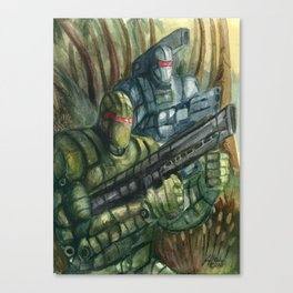 Jungle Assault Canvas Print