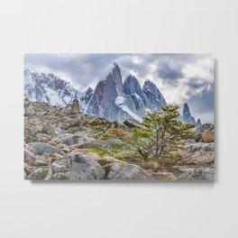 Snowy Mountains at Laguna Torre El Chalten Argentina Metal Print