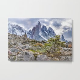 Snowy Mountains at Laguna Torre El Chalten Argentina Metal Print