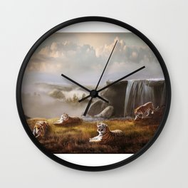 Endangered Siberian Tigers Wall Clock