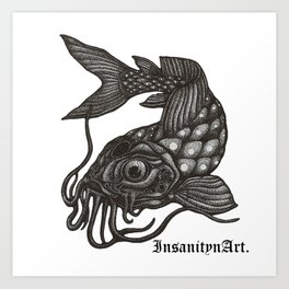 InsanitynArt's, Pointilism, How Koi?  Art Print