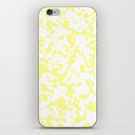 Spots - White and Pastel Yellow iPhone Skin