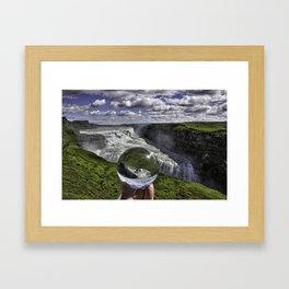 Gulfoss Crystal Ball 3 Framed Art Print