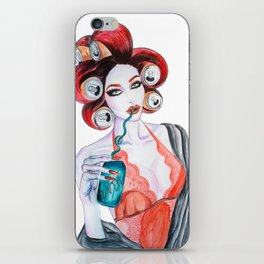 Red Head Beauty iPhone Skin
