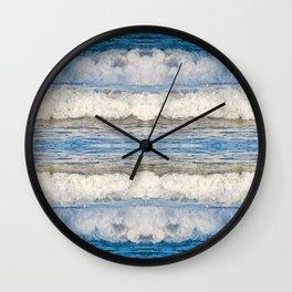 Abstract Waves splashing off the Queensland coast, Australia kaleidoscope Wall Clock