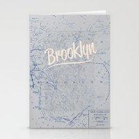 brooklyn Stationery Cards featuring Brooklyn by Dweezle