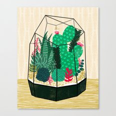 Terrarium - Geodesic Plant for Succulents and Cactus by Andrea Lauren Canvas Print