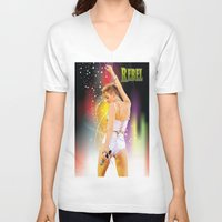 rebel V-neck T-shirts featuring Rebel by Don Kuing