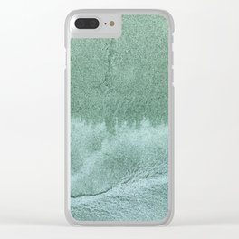 Green gray Clear iPhone Case