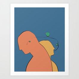 He, She: Communication // Illustration Art Print