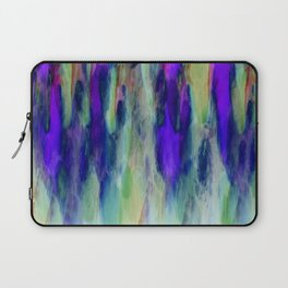 The Cavern in Shades of Purple and Green Laptop Sleeve