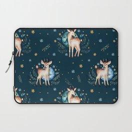Christmas baby deer winter pattern Laptop Sleeve