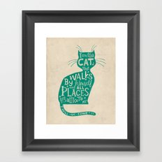 'The Cat That Walked by Himself' Framed Art Print