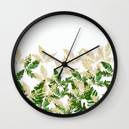PALM LEAF FERN LEAF TROPICAL Wall Clock