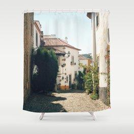 Obidos, Portugal (RR 179) Analog 6x6 odak Ektar 100 Shower Curtain