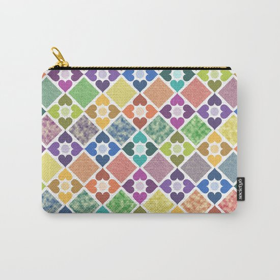 Colorful Floral Pattern III Carry-All Pouch