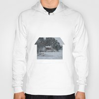 cabin Hoodies featuring Red Cabin by Accessorius
