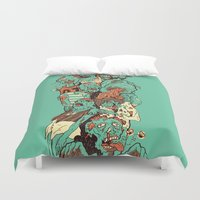 zombies Duvet Covers featuring Zombies by SarahRobbins