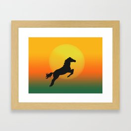 Jumping Framed Art Print