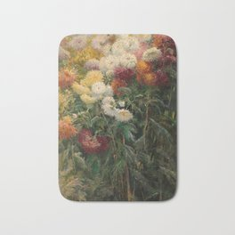 Chrysanthemums by Gustave Caillebotte Bath Mat