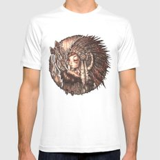 Tiger Lily White MEDIUM Mens Fitted Tee