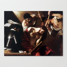 Caravaggio The Crowning with Thorns Canvas Print
