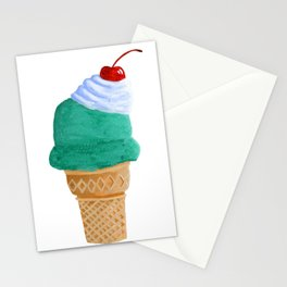 Ice Cream Cone Stationery Cards