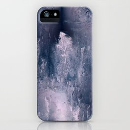 Pink & Grey Figurative Abstract I iPhone Case