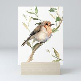 Watercolor Robin Artwork Mini Art Print