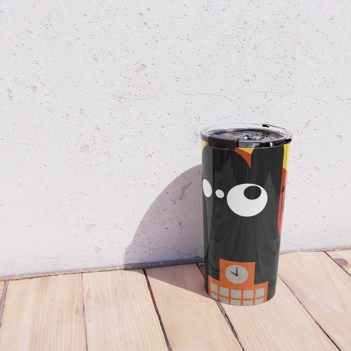 Black Blob Attack Travel Mug