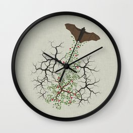 fruit bat paints forest Wall Clock