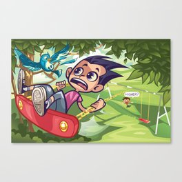 Off the Swing  Canvas Print