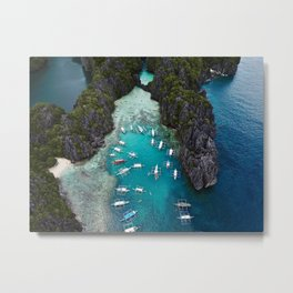 Island hopping in the Philippines Metal Print