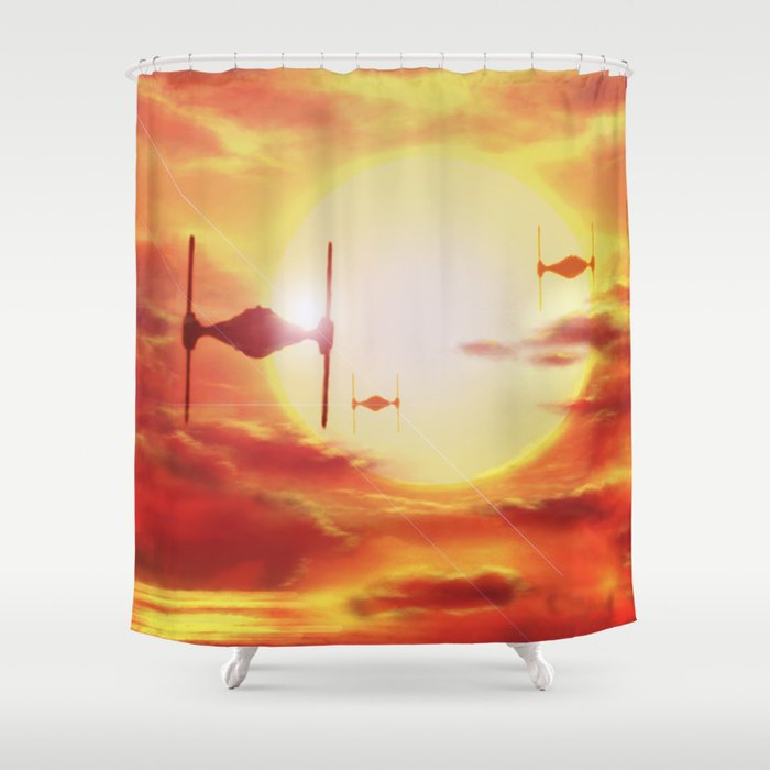 Tie Fighters Shower Curtain