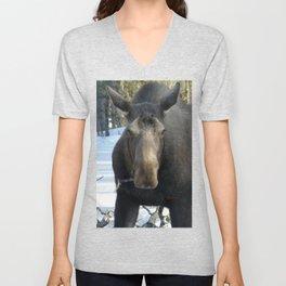 Moose Munching Poplar Lunch Unisex V-Neck