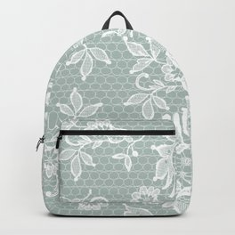 Lace on Duck Egg Green Backpack