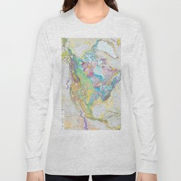 USGS Geological Map Of North America Long Sleeve T-shirt