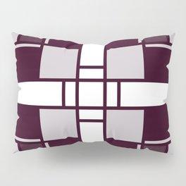Neoplasticism symmetrical pattern in pinkish gray Pillow Sham