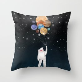 balloon universe Throw Pillow