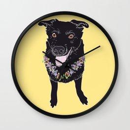 Happy Black Lab Dog Wall Clock