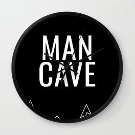 Man Cave Mountain Wall Clock