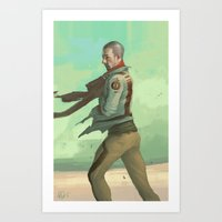 desert Art Prints featuring Desert by Kelly Perry