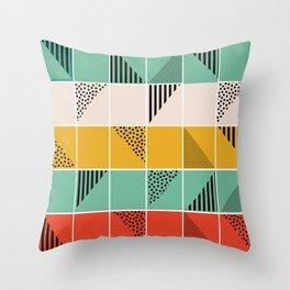 Blossom mosaic Throw Pillow
