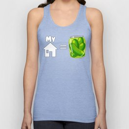 Requiem Mask - My House is Pickles! Unisex Tank Top
