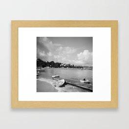 Dinghy Dock on Holga Framed Art Print