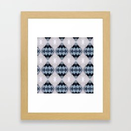 Gray Grenade Pattern Mosaic Framed Art Print