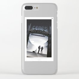Ceres : Retro Space Galaxy Poster Clear iPhone Case