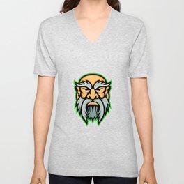 Cronus Greek God Mascot Unisex V-Neck