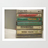sonic youth Art Prints featuring Sonic youth tapes by mijofeo